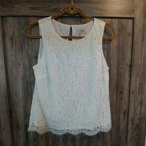Loft sleeveless lace top